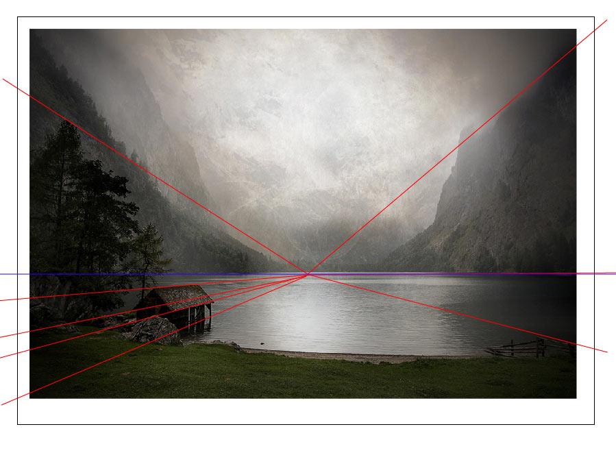 fluchtpunktlinien und horizontlinien in der fotografie